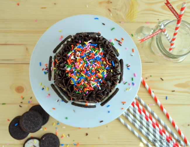 Oreo Birthday Cake with Sprinkles