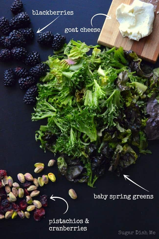 Blackberry Balsamic Salad; perfect for warm spring and hot summer days