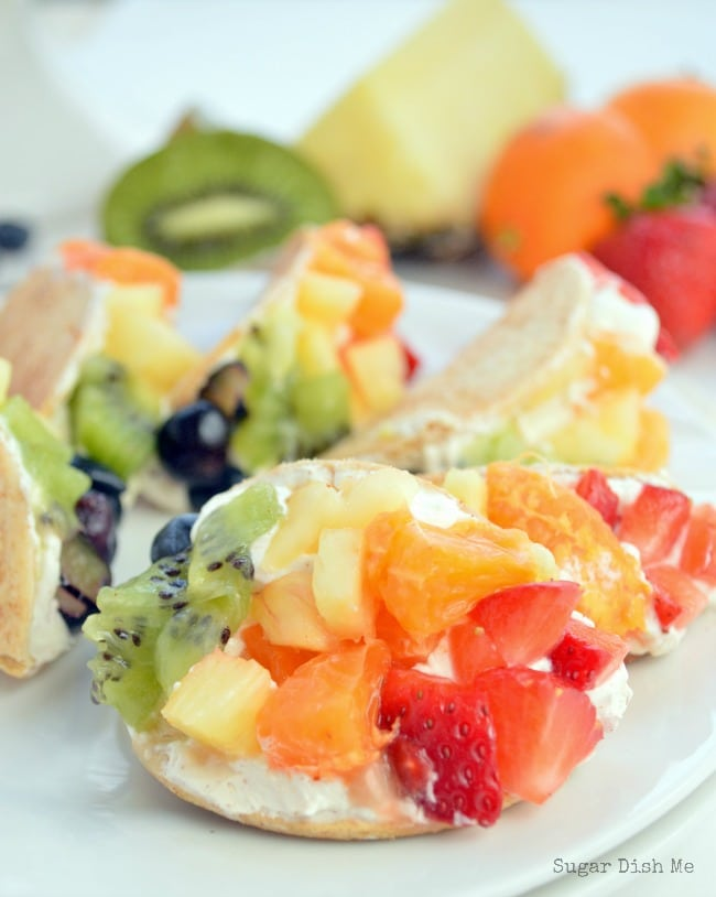 Mini Rainbow Fruit Tacos