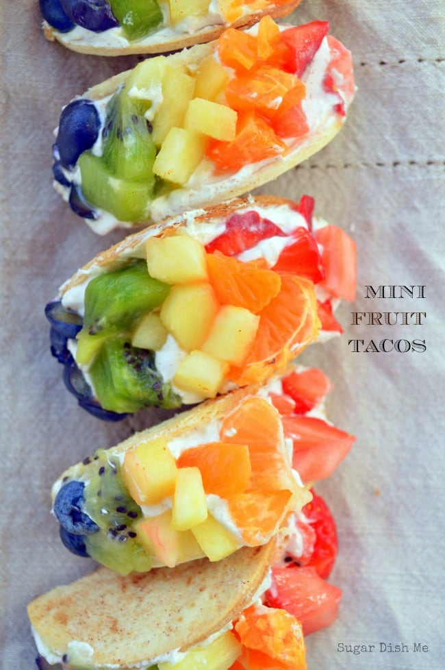 Mini Fruit Tacos via www.sugardishme.com