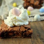 Cadbury Candy Egg Brownies with Whipped Cream