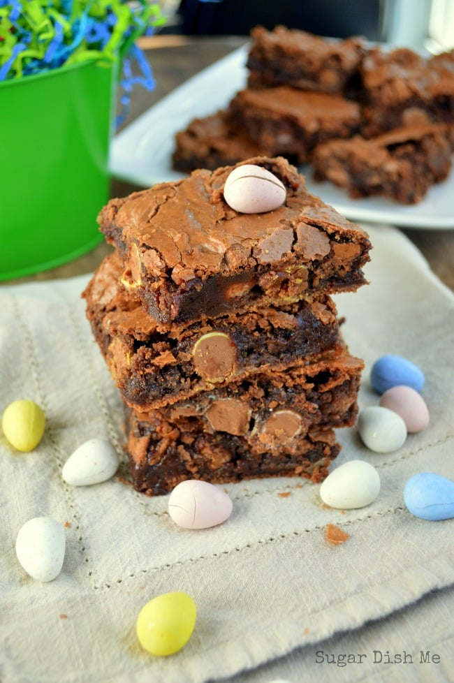 Homemade Fudge Brownies with Cadbury Candy Eggs