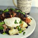 Coffee Rubbed Steak and Poached Egg Brunch
