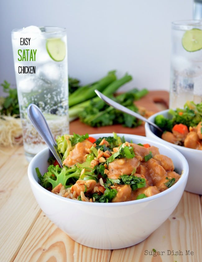 Easy Satay Chickenwith Progresso Recipe Starters via www.sugardishme.com