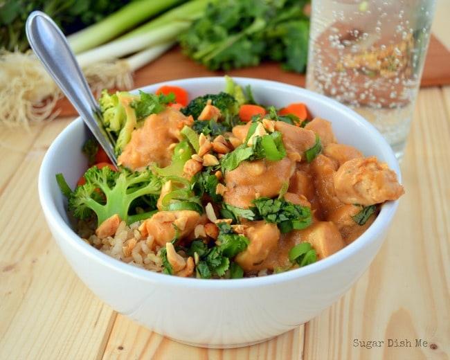 Satay Chicken Bowls