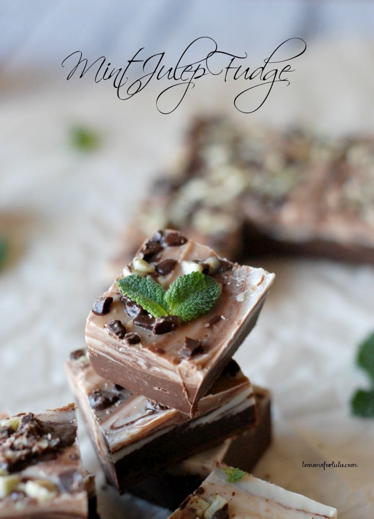Mint Julep Fudge via Lemons for Lulu; Meal Plans Made Simple