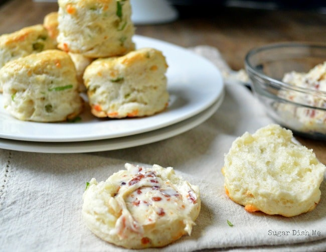 Spring Onion Scones with Cheddar and Bacon Butter