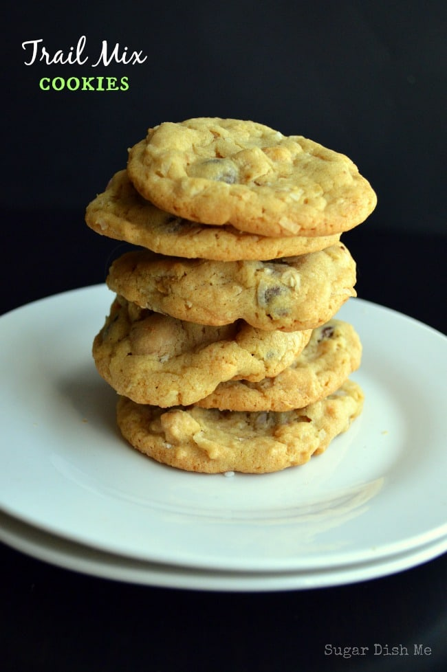 Trail Mix Cookies via www.sugardishme.com