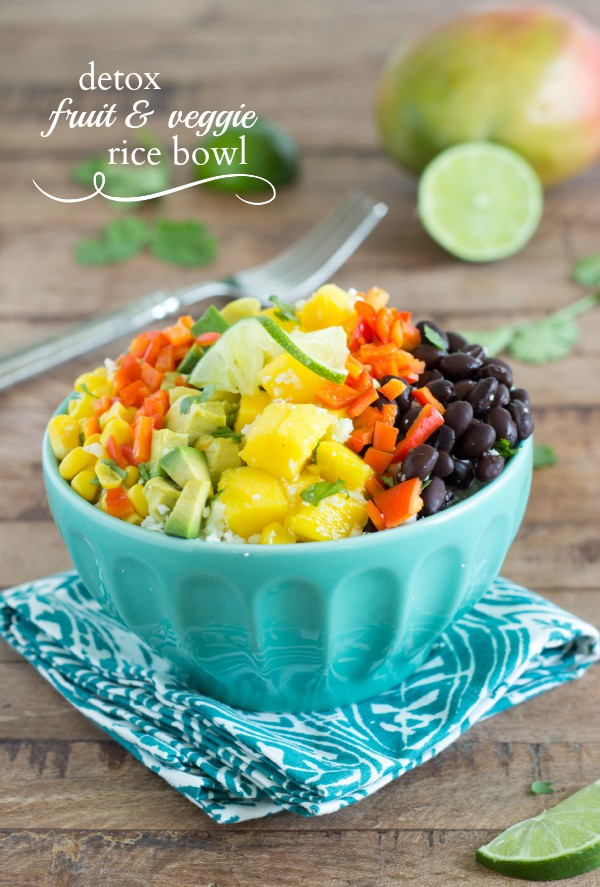 Detox Summer Rice Bowl via Chelsea's Messy Apron; Meal Plans Made Simple