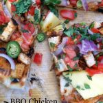 Grilled BBQ Chicken Pizza via Sugar Dish Me