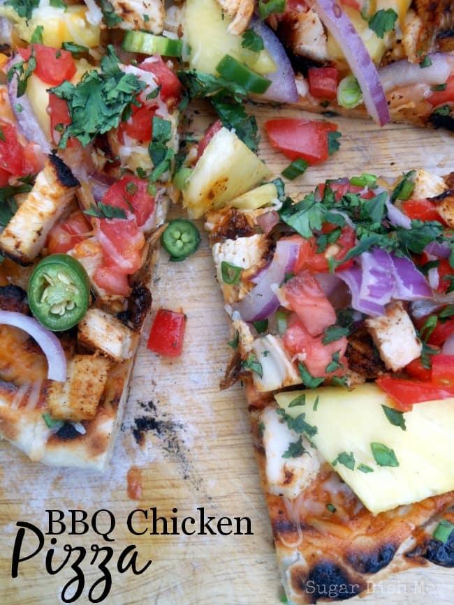 Grilled BBQ Chicken Pizza via Sugar Dish Me