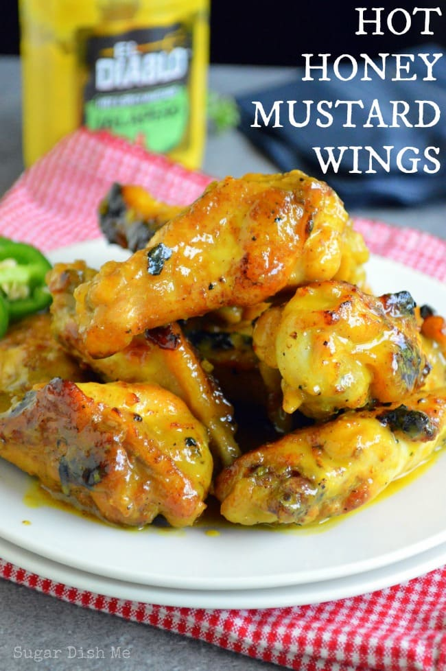 Hot Honey Mustard Wings on www.sugardishme.com