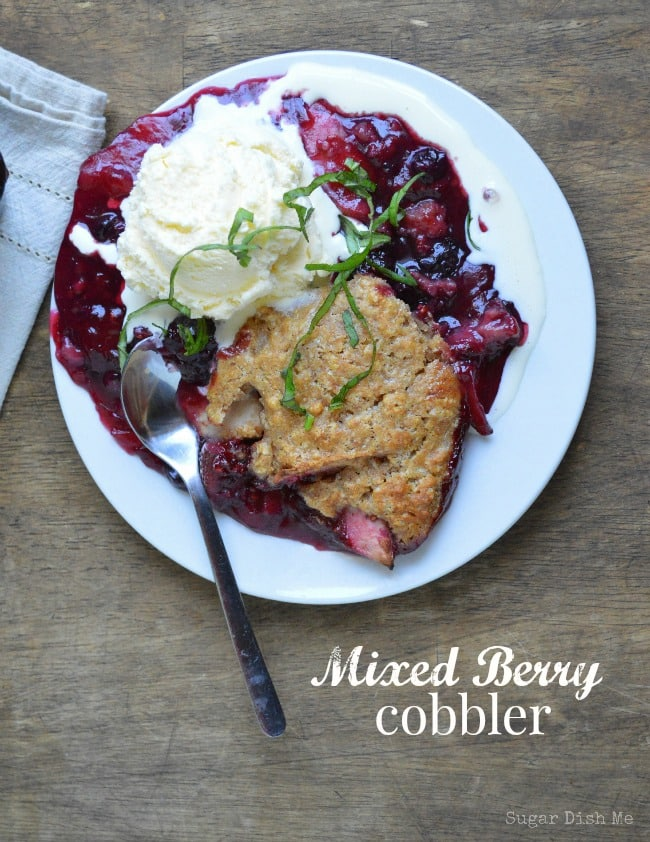 Mixed Berry Cobbler on www.sugardishme.com