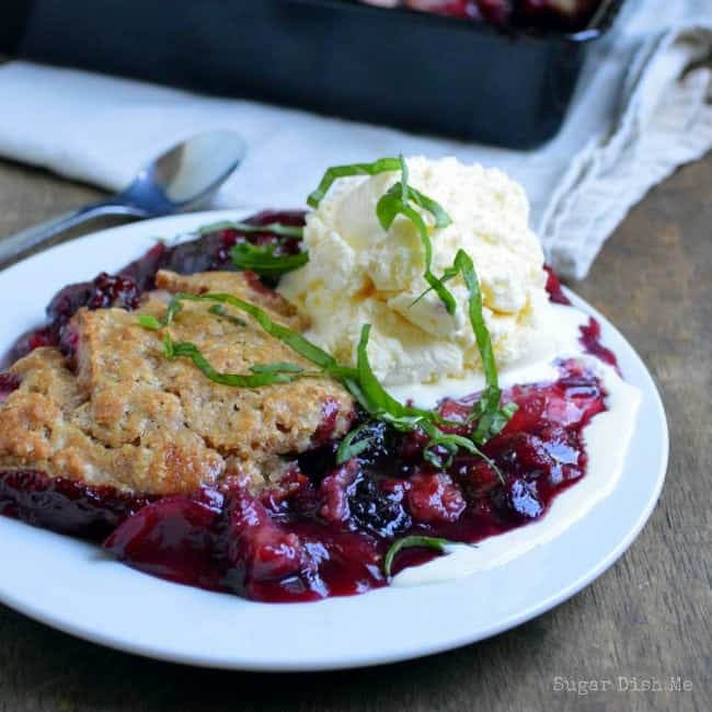 Berry Cobbler with Whole Wheat Almond Crust
