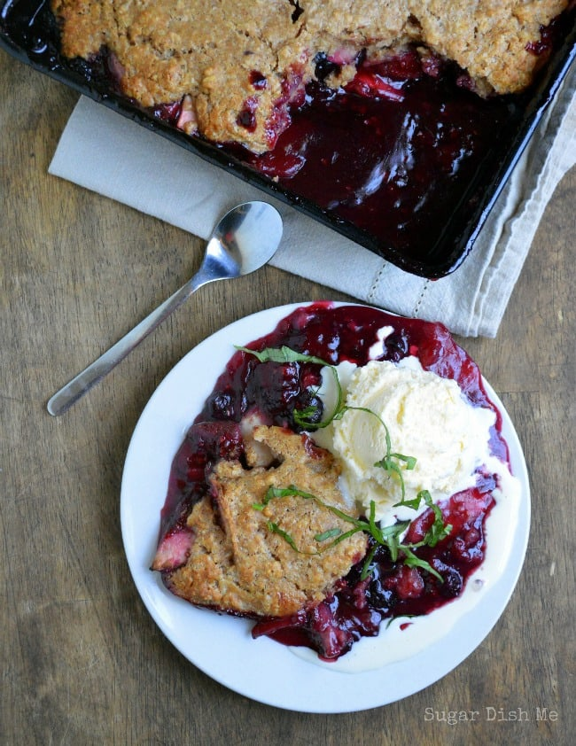 Mixed Berry Cobbler from Fresh and Light by Donna Hay on www.sugardishme.com