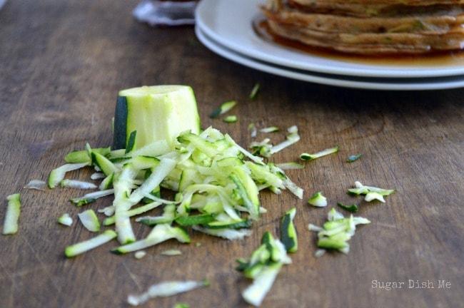 Shredded Zucchini for Zucchini Pancakes