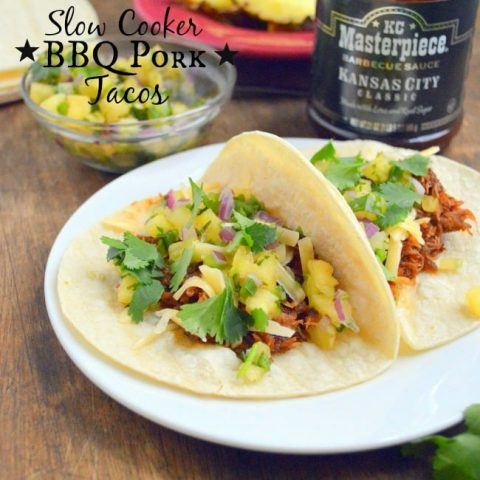 Slow Cooker BBQ Pork Tacos with Pineapple Salsa