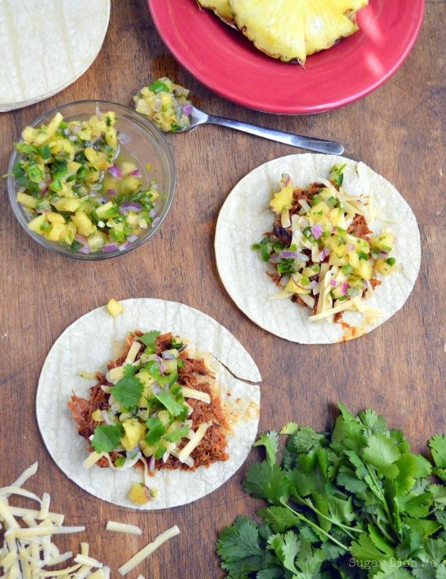 Slow Cooker BBQ Pork Tacos