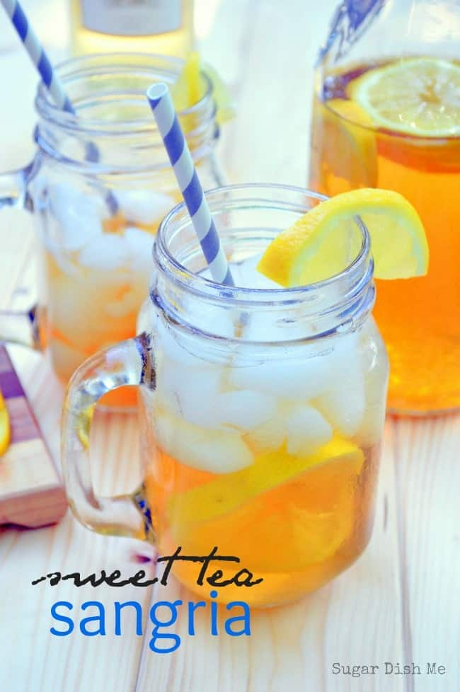 Sweet Tea Sangria on www.sugardishme.com