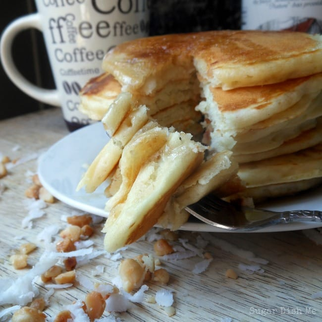 Toasted Coconut and Macadamia Nut Pancakes