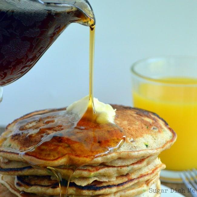 Zucchini Bread Buttermilk Pancakes