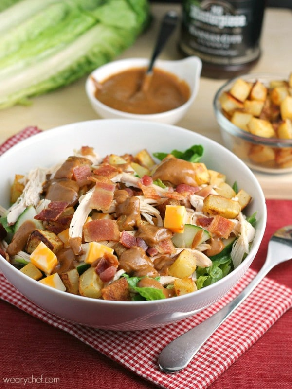 Loaded BBQ Chicken Salad via The Weary Chef; Meal Plans Made Simple