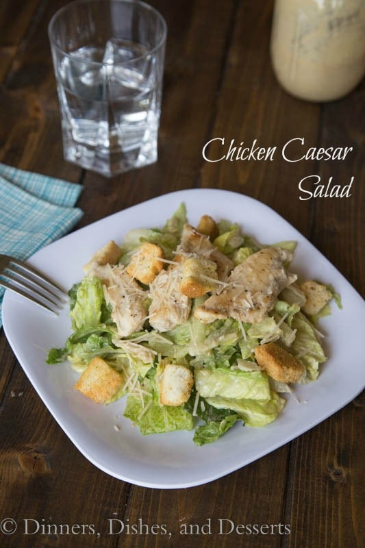 Classic Chicken Caesar Salad via Dinners, Dishes, & Desserts - Meal Plans Made Simple