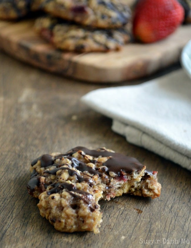 Chocolate Covered Strawberry Oatmeal Cookies