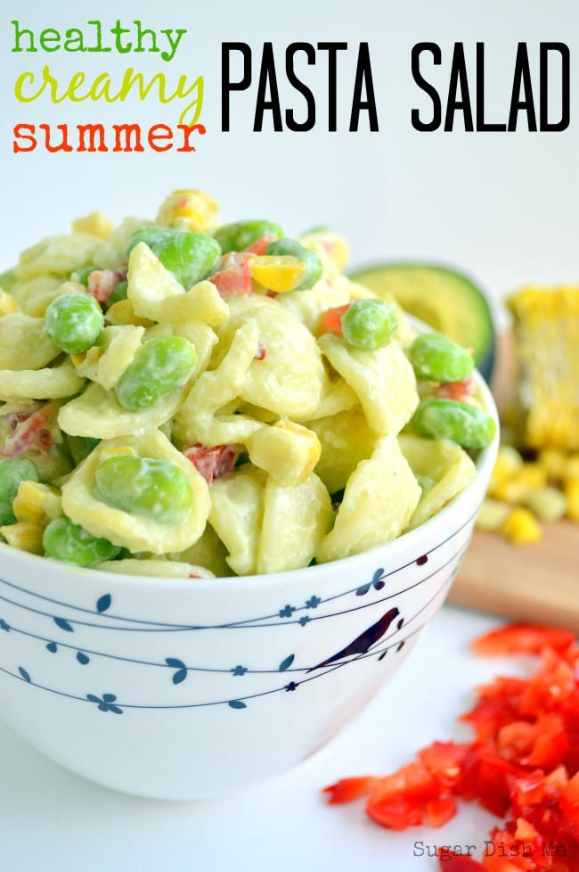 Healthy Creamy Summer Pasta Salad