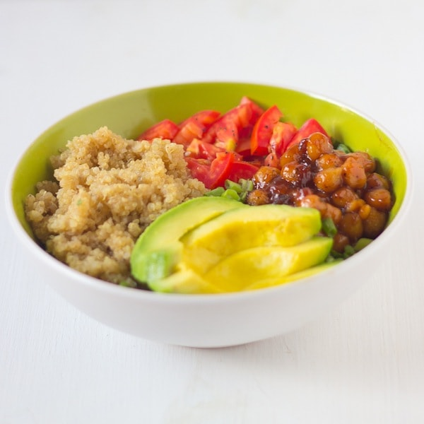 Honey and Lime Quinoa salad Bowl via Blahnik Baker - Meal Plans Made Simple