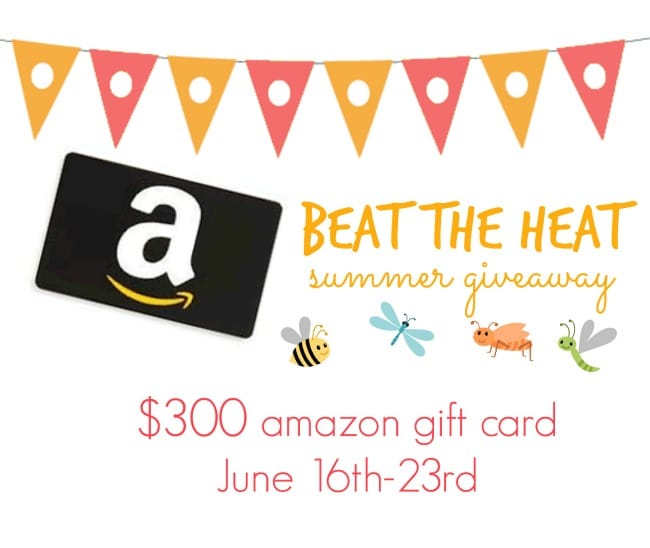 Beat the Heat Summer Giveaway {$300 Amazon Gift Card!}