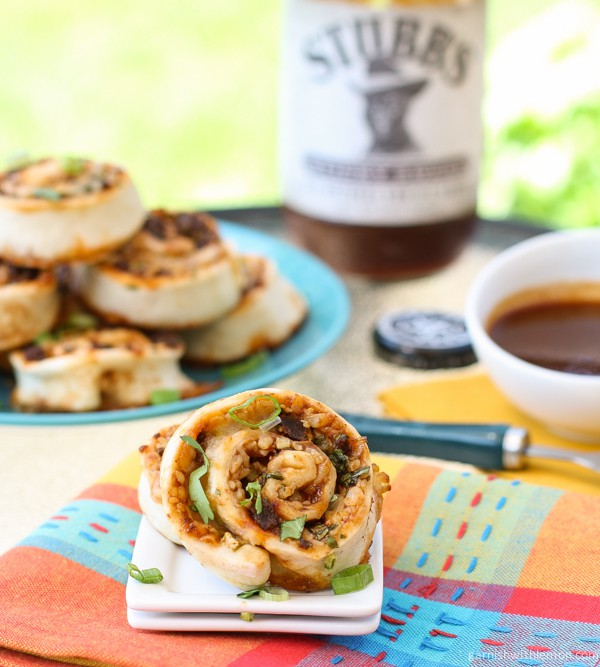 BBQ Chorizo Pinwheels via Garnish with Lemon; Meal Plans Made Simple