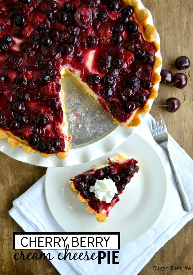 Cherry Berry Cream Cheese Pie