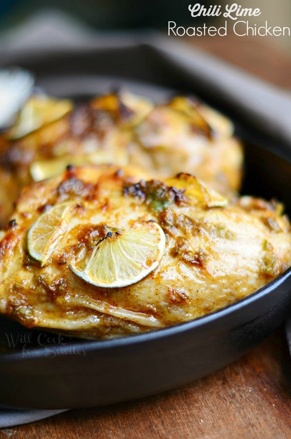 Chili Lime Roasted Chicken via Will Cook for Smiles; Meal Plans Made Simple