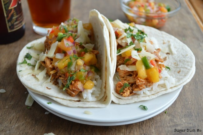 Tacos with Chipotle Peppers and Peaches