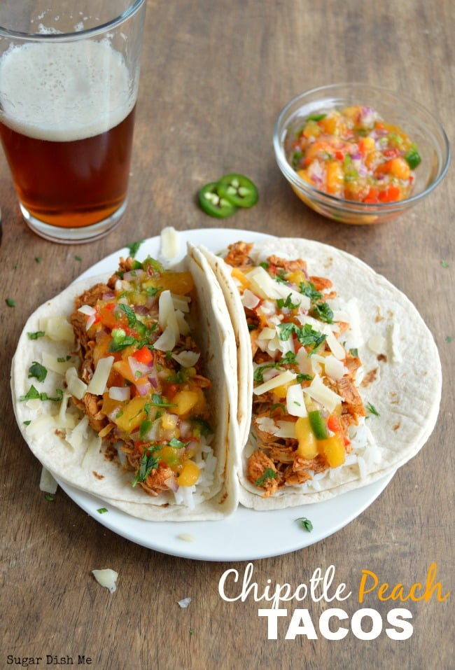 Chipotle Peach Chicken Tacos