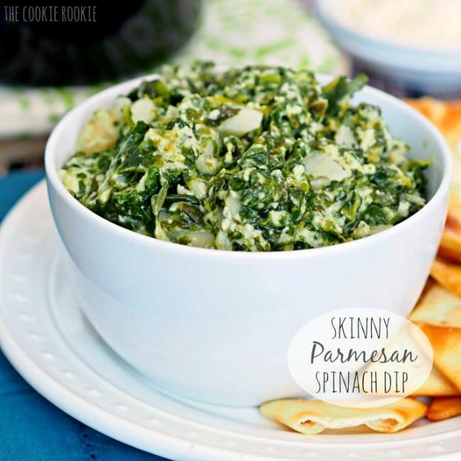 Crock Pot Skinny Parmesan Spinach Dip