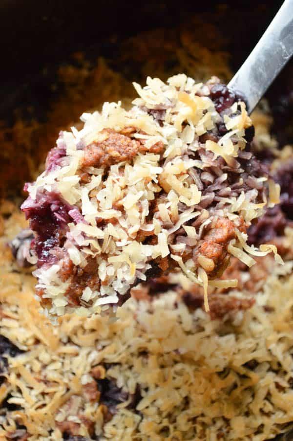 Crock Pot Blueberry Coconut Cobbler
