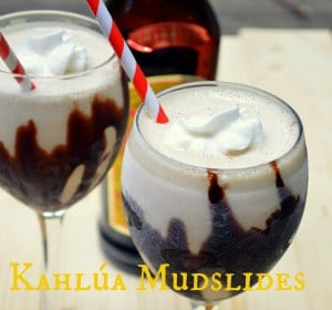 Kahlúa Mudslides are a classic cocktail recipe with Kahlúa, vodka, Irish cream liqueur, and ice cream! Make sure to take the time to freeze your serving glasses ahead of time for an extra awesome summer treat!