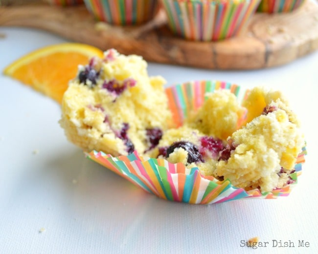 Orange and Brown Butter Blueberry Muffins