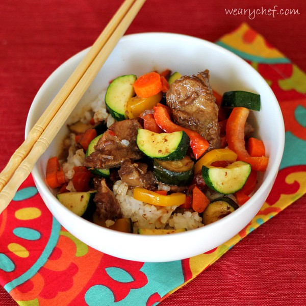 Slow Cooker Asian Beef with Veggies