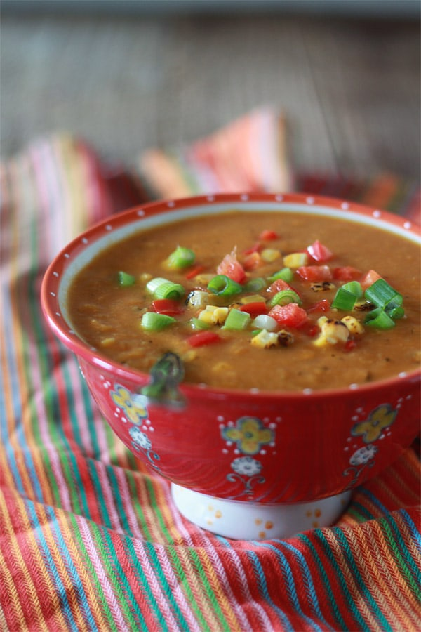 Slow Cooker Corn and Red Pepper Chowder