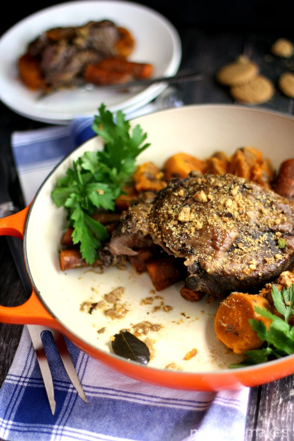 Slow Cooker Gingersnap Pot Roast