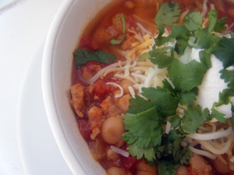 Slow Cooker Mexican Style Chicken Chili