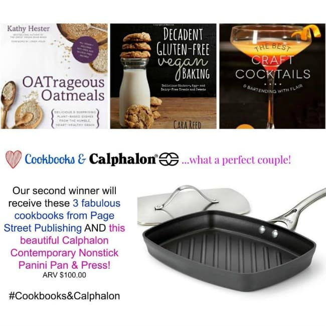 Cookbooks and Calphalon Second Prize