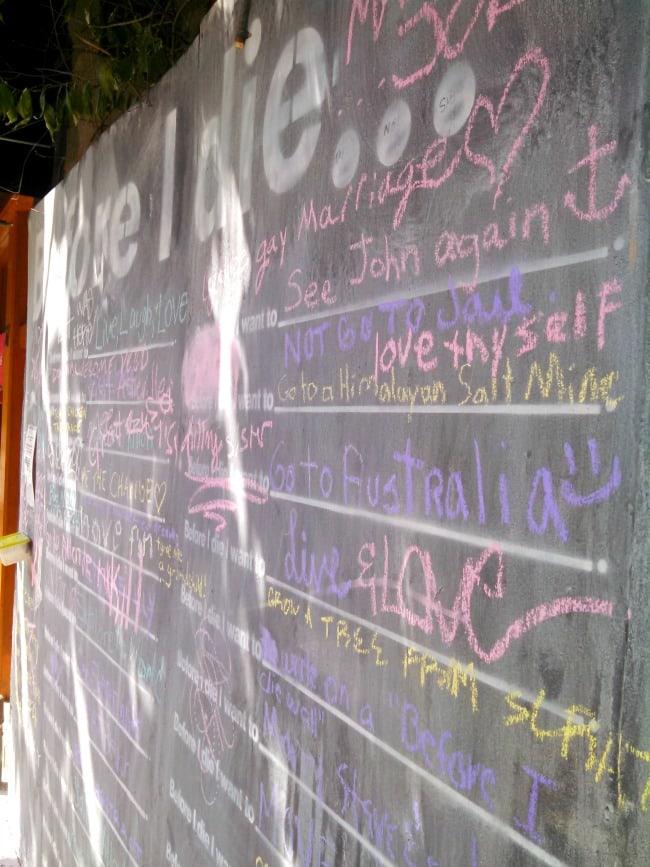 Before I Die Chalk Wall