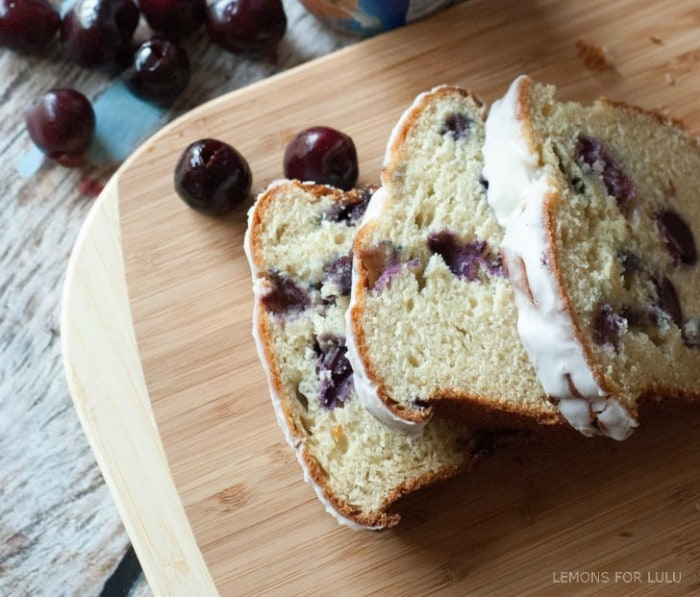 Cherry Almond Quick Bread via Lemons for Lulu on Meal Plans Made Simple
