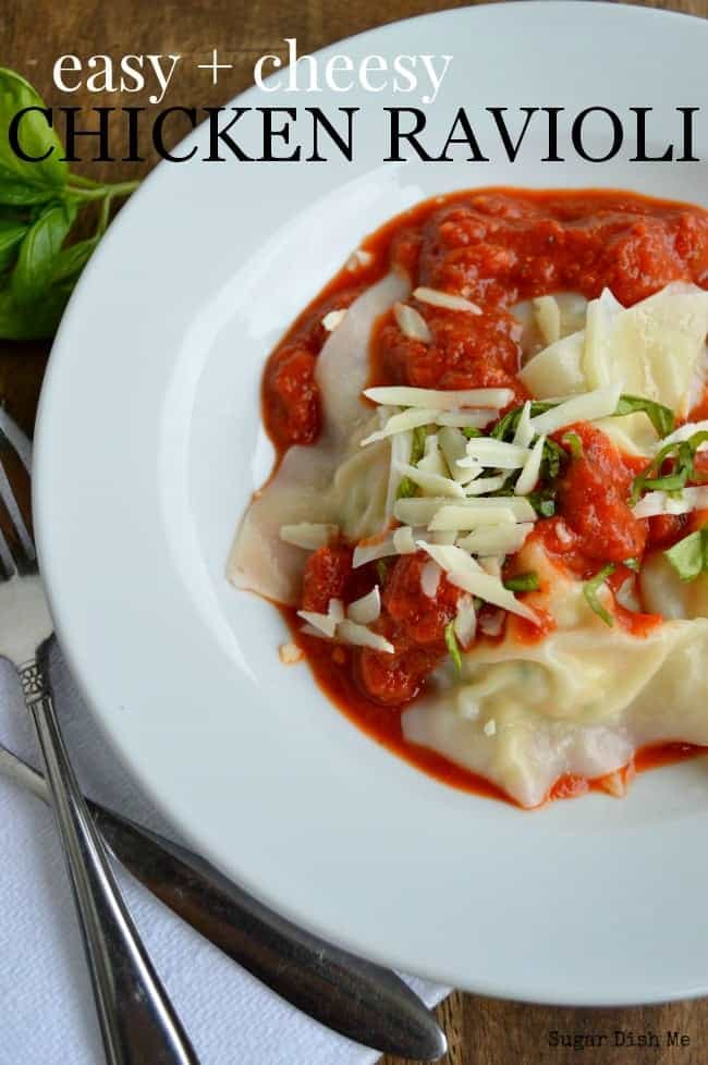 Easy Cheesy Chicken Ravioli