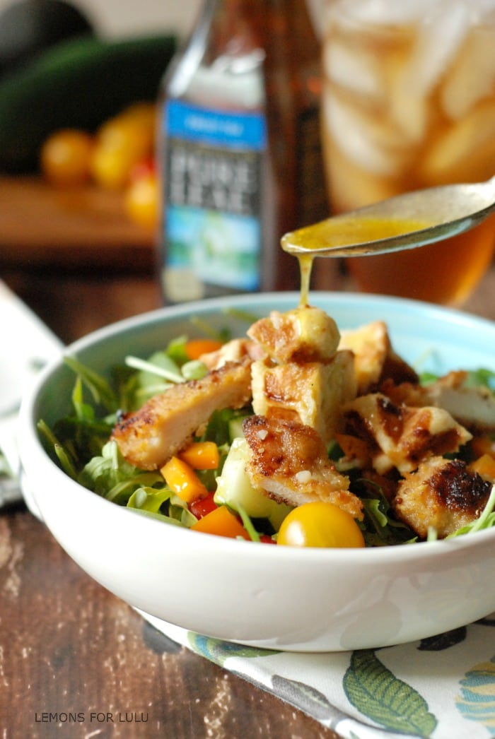 Chicken and Waffles Salad via Lemons for Lulu on Meal Plans Made Simple