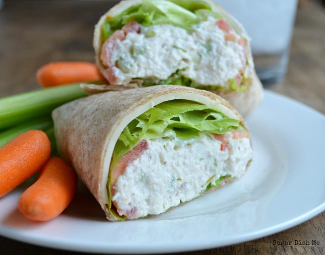 Healthy Dill Chicken Salad makes for crazy good wraps, sandwiches, and ...